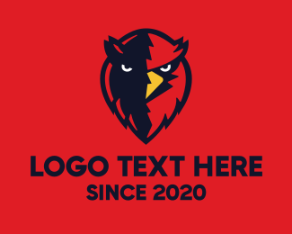 Flying Animal - Red Bird Mascot logo design