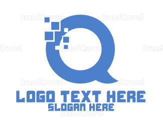 Checkbox - Letter Q Chat logo design