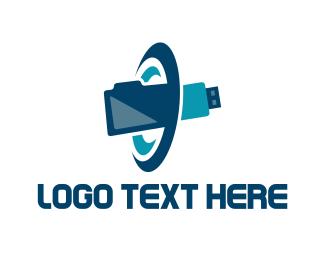 Folder - Orbit Pen Drive logo design