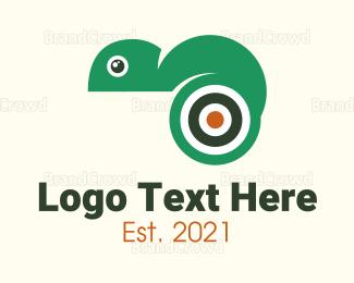 Target - Target Chameleon logo design