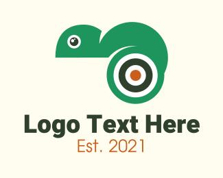 Iguana - Target Chameleon logo design
