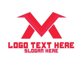 Mv - M & V Letters logo design
