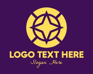 Circle - Yellow North Star logo design