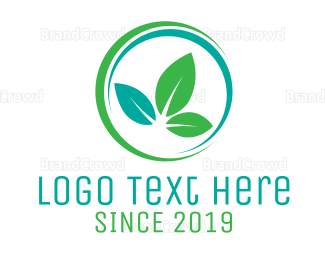 Ring - Spa Leaf Ring logo design