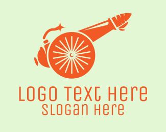 Military - Military Carrot Cannon logo design