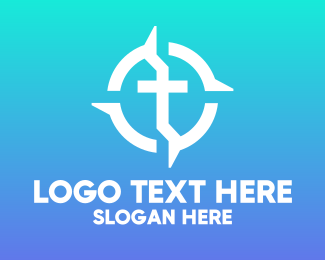 Religion - Cross Religion Direction logo design