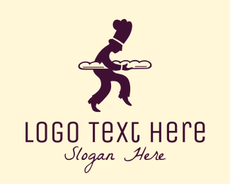 French Baguette Patisserie Baker logo design