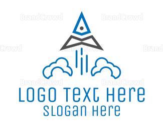 Triangle - Triangle Rocket logo design