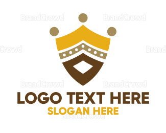 Armor - Royal Shield Crown logo design