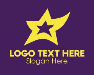 Dancing - Yellow Dancing Star logo design