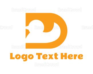 Infant - Yellow D Duck logo design
