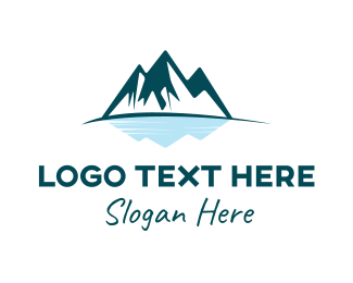 Iceberg - Mountain Lake  logo design