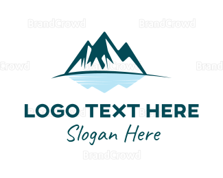 Iceberg - Mountain Lake  logo design