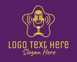 Voice - Celebrity Star Podcast logo design