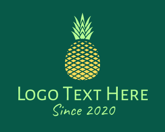 Healthy Food - Simple Geometric Pineapple logo design