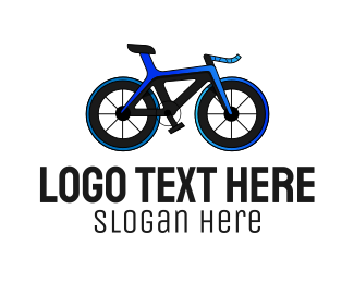 Blue Bike - Blue Road Bike logo design