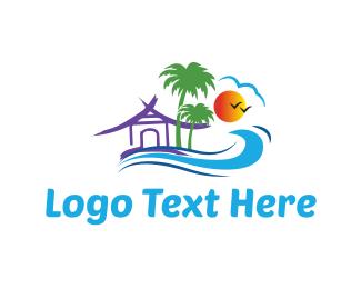 Hawaii - Beach House logo design