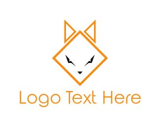 Coyote - Geometric Cat logo design