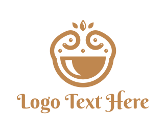 Happy - Elegant Happy Bowl logo design