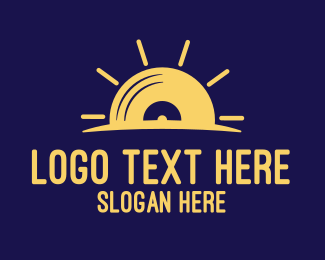 Sunshine Record logo design