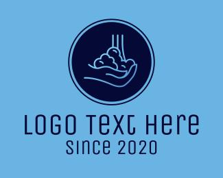 Hygiene - Hand Washing Soap Bubbles logo design