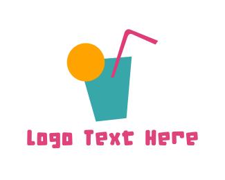 Sunny - Tropical Drink logo design