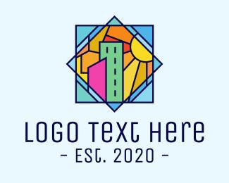 Urban - Stained Glass Urban City logo design