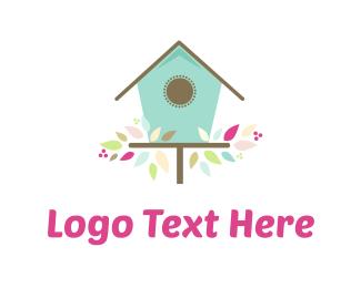 Cute Birdhouse Logo