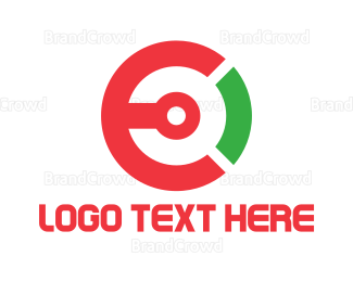 Letter E - Tech Circle Letter E logo design