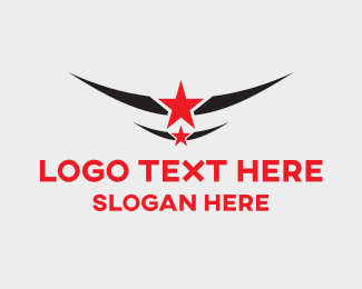 All Star - Star Emblem logo design