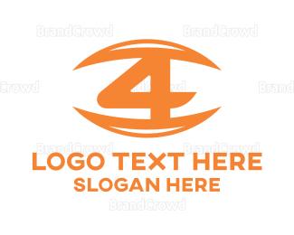 Eye Care - Orange Eye Number 4 logo design