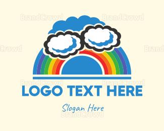 Rainbow - Cloudy Rainbow  logo design