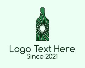 """""""Green Wine Bottle """" by CreativePixels"""