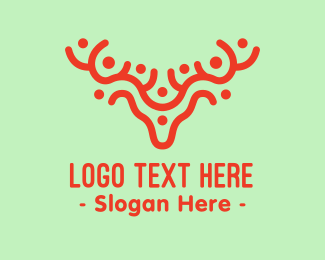 Stag - Abstract Deer logo design