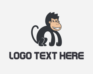 Cheeky Monkey Mascot Logo