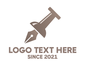 Pr - Pen Pin logo design