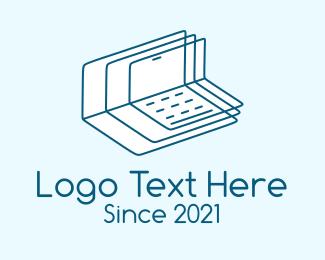 Learning - Blue Learning Module logo design