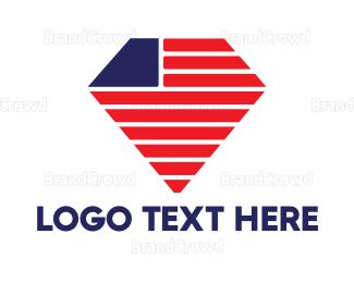Mining - USA Diamond  logo design