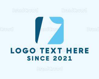 Blue And Gray - White Paper logo design