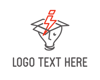 Bulb - Flash Idea logo design