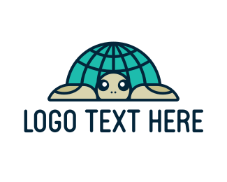 Language - Global Turtle logo design