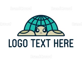 Conservation - Global Turtle logo design