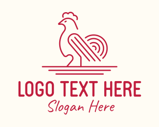 Cockfight - Red Poultry Rooster logo design