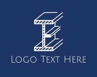 Contractor - Beam Letter E logo design