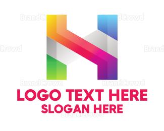 Exhibition - Colorful H logo design