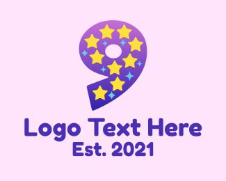 Kids Apparel - Starry Nine logo design