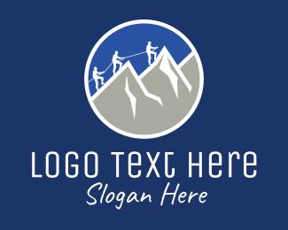 Sports - Mountain Climber Badge logo design
