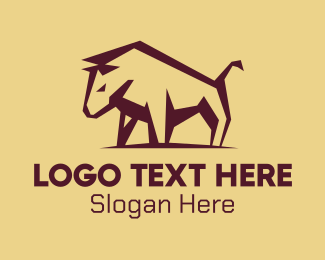 Bullfight - Brown Bullfighter logo design