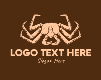 Shellfish - Rustic Vintage Crab logo design