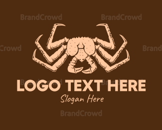 Crustacean - Vintage Crab logo design